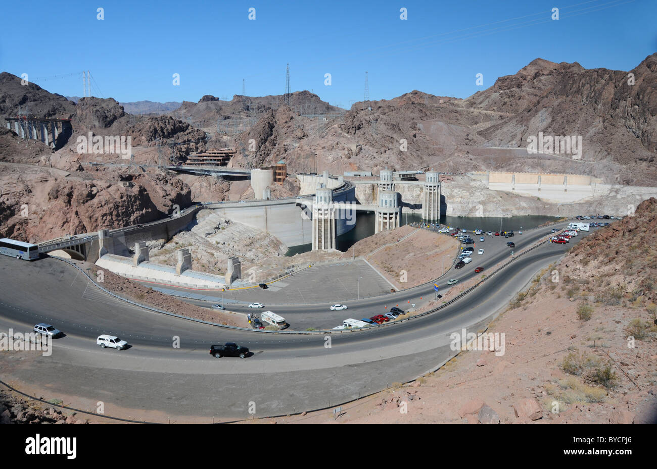 Hoover Dam a concrete arch-gravity dam in Black Canyon of the Stock