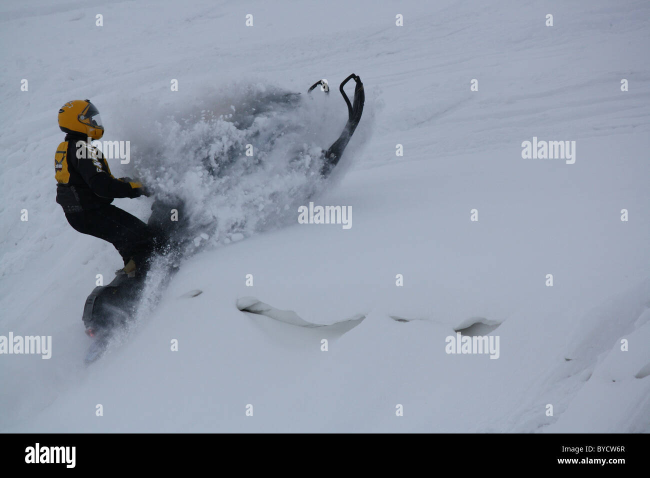 too much snow - Stock Image