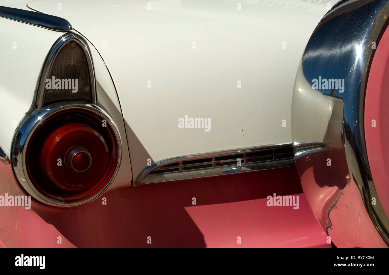 Route 66 tail fin and tail lights - Stock Image