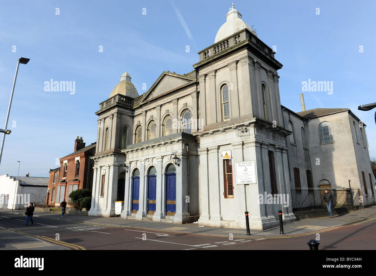 Willenhall in the West Midlands England Uk The Life and Light Christian Centre - Stock Image