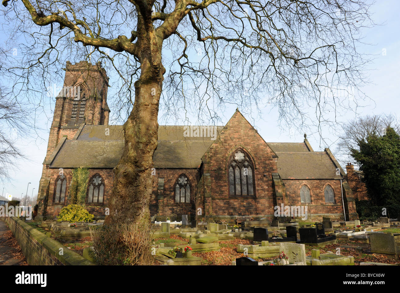 St Giles Church in Willenhall in the West Midlands England Uk - Stock Image