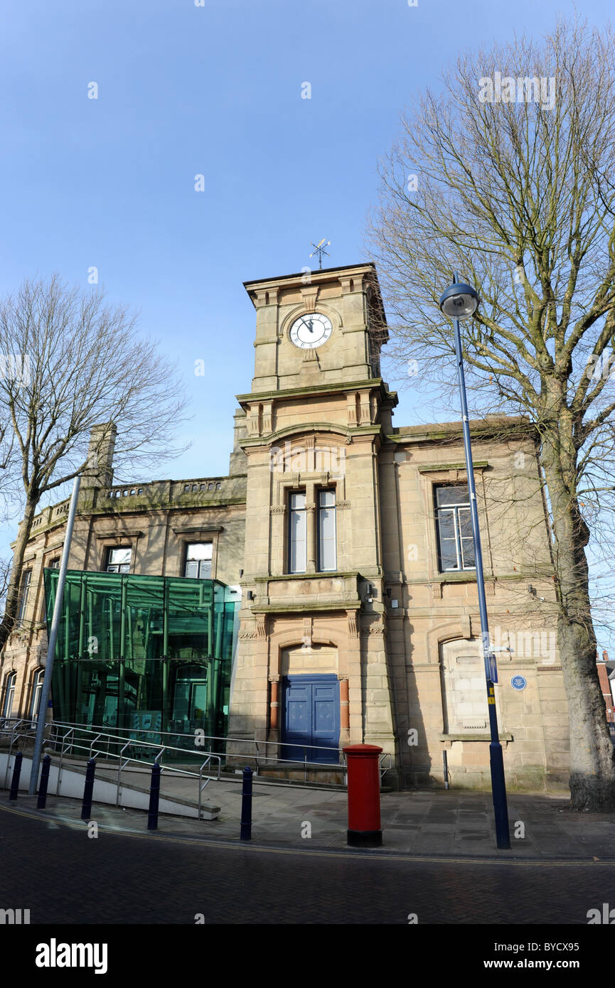 Bilston in the West Midlands England Uk The old town hall - Stock Image