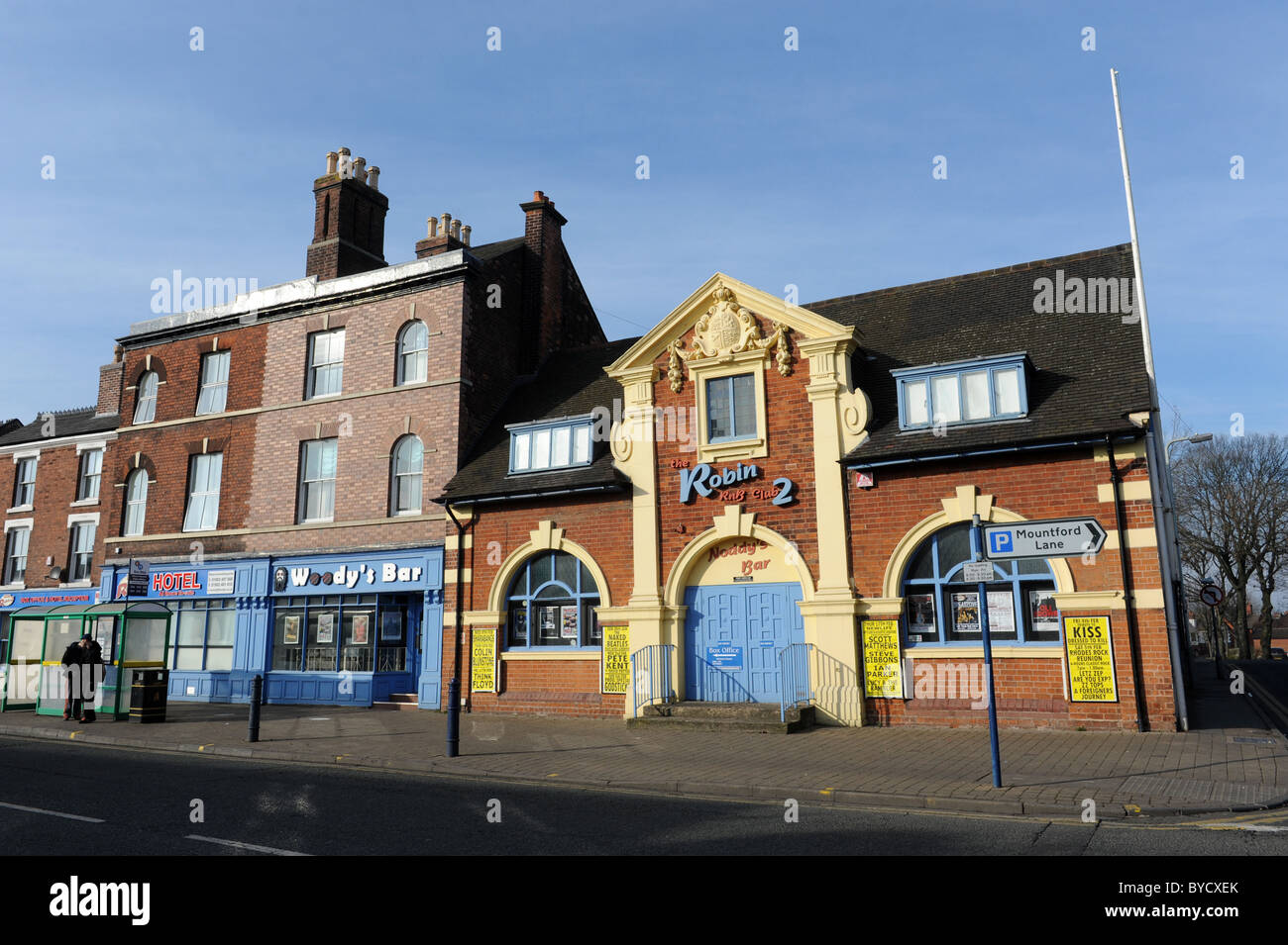 Bilston in the West Midlands England Uk The Robin 2 R&B club - Stock Image