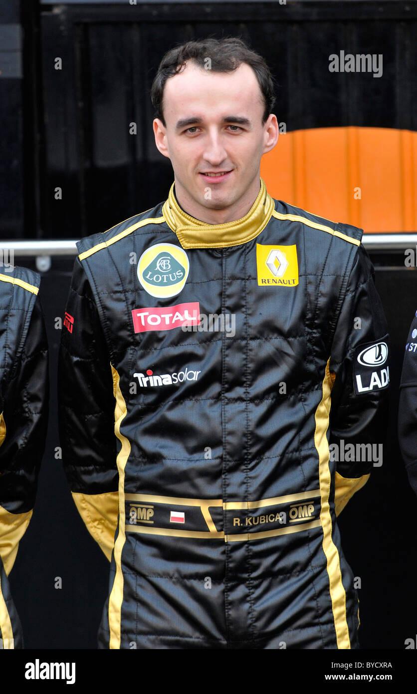 Robert Kubica (POL) Lotus Renault Formula One Driver on Jauary 31st 2011 - Stock Image