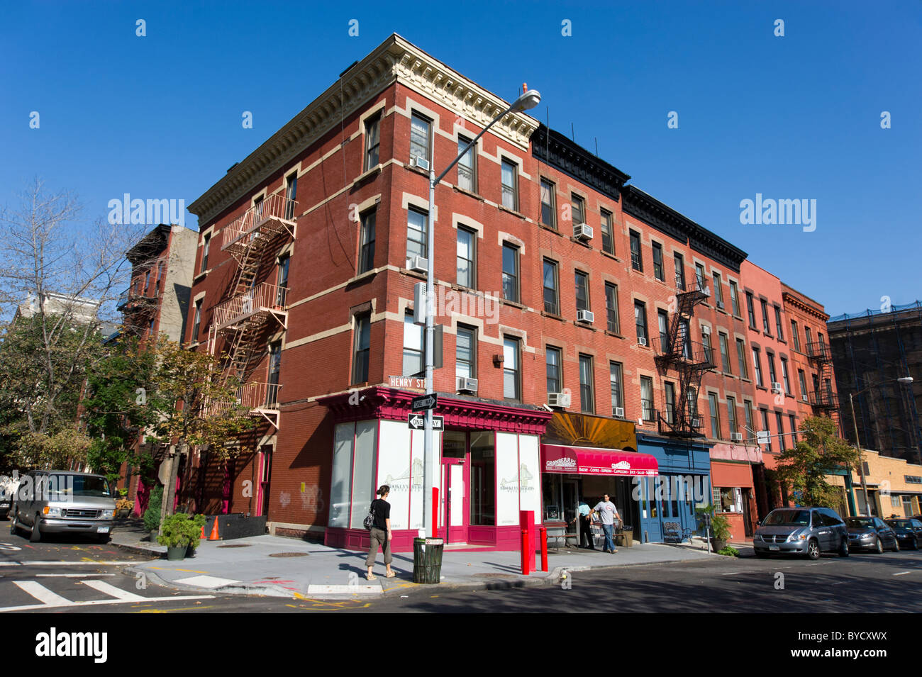 Henry Street in the Brooklyn Heights neighbourhood, New York City, USA - Stock Image