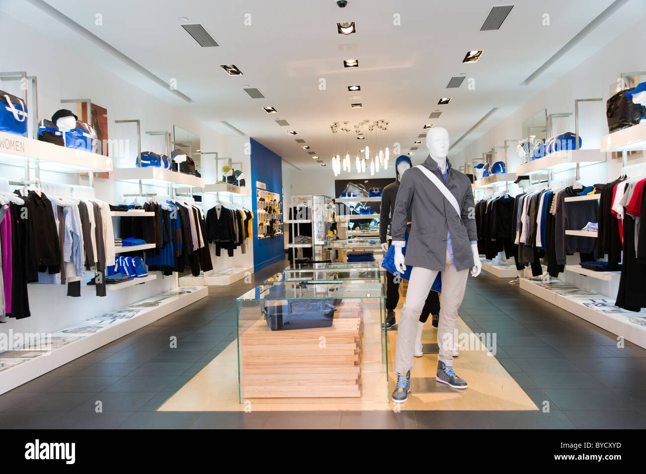 Adidas SLVR clothes shop in SoHo, New York City, USA - Stock Image