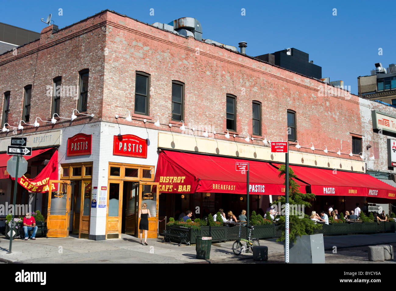Pastis bistro on 9th Avenue in the Meatpacking District, New York City, America, USA - Stock Image