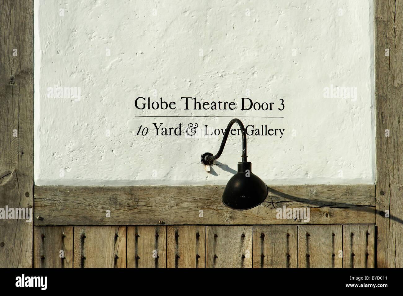 Detail at Globe Theatre London - Stock Image
