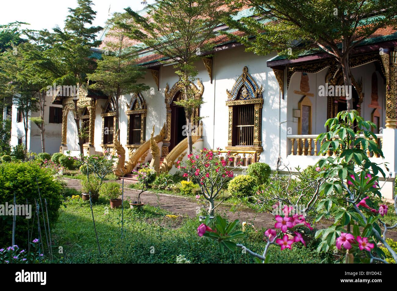 Wat Chiang Man or Mun, Chiang Mai, Thailand - Stock Image