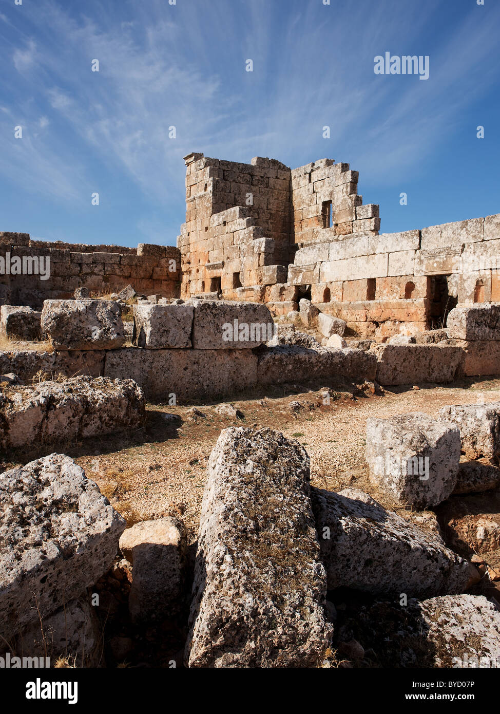 Forgotten city of Serjilla, Syria - Stock Image