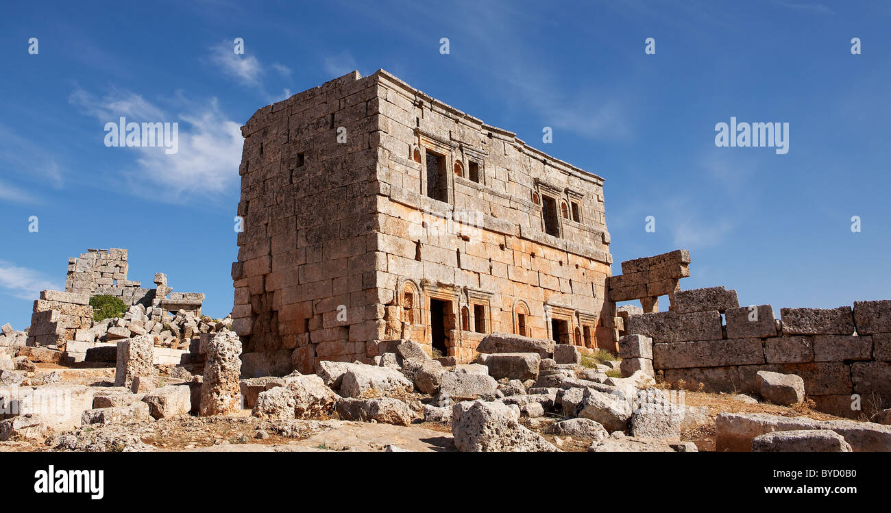 Forgotten city of Serjilla, Syriaz - Stock Image