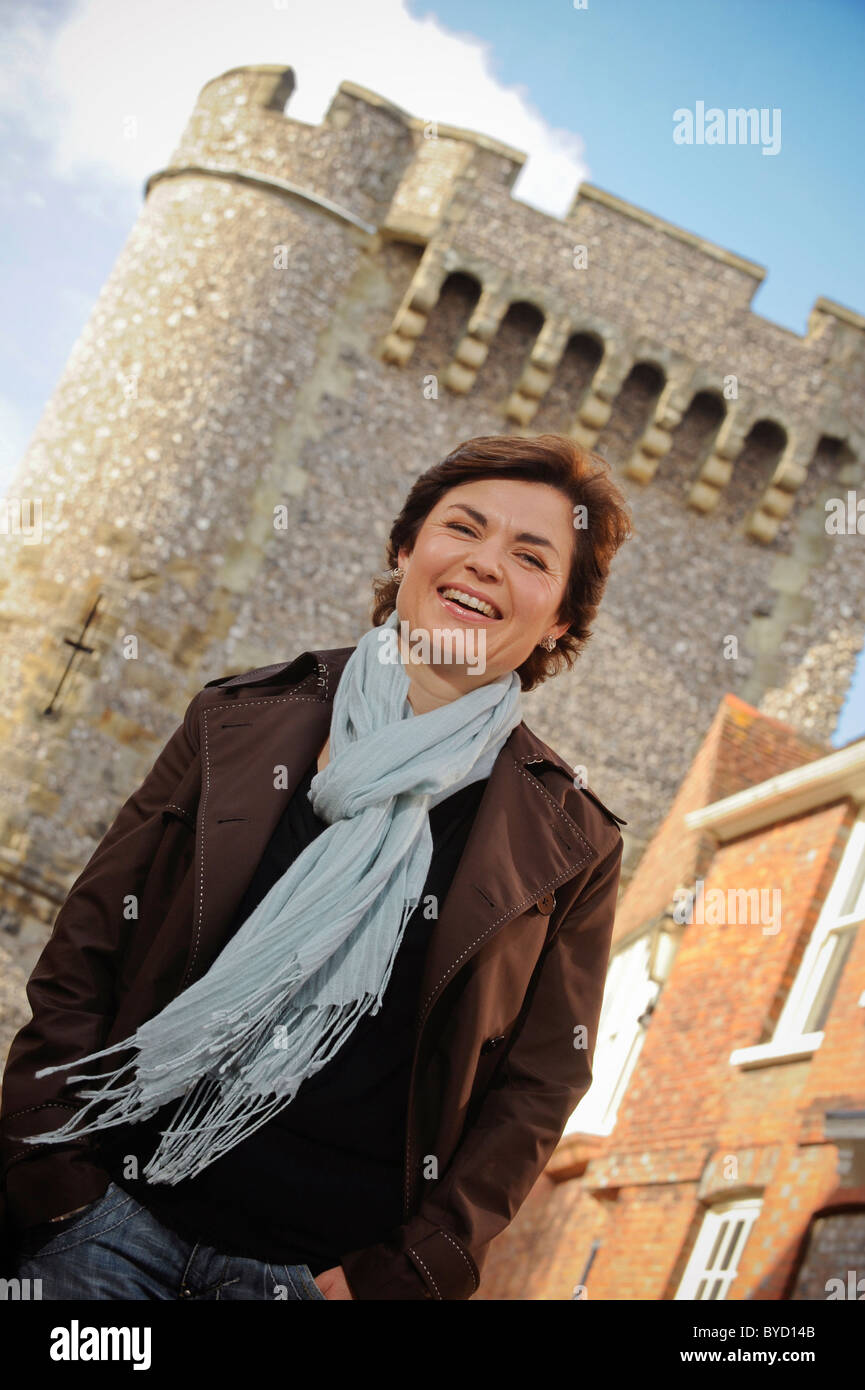 Portrait of BBC newsreader Jane Hill - Stock Image