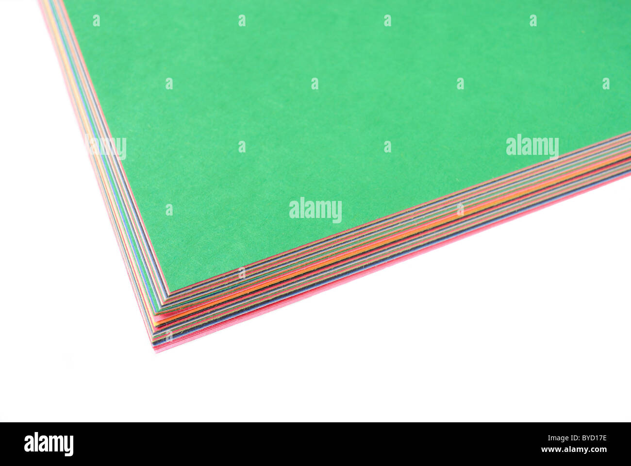 Construction paper for art projects. - Stock Image
