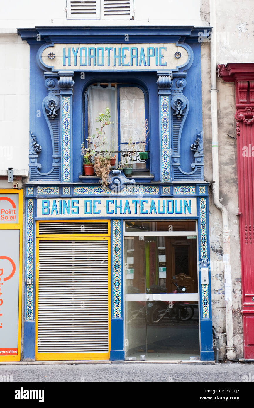 Shop for hydrotherapy in Paris - Stock Image