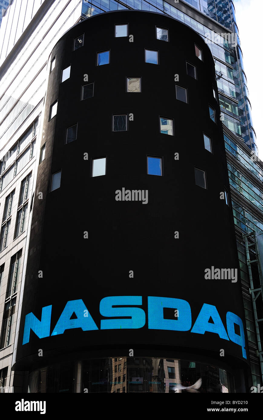 NASDAQ Stock Exchange in Times Square - Stock Image