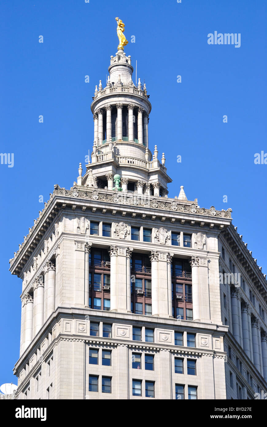 Top of the Municipal Building in New York City. - Stock Image