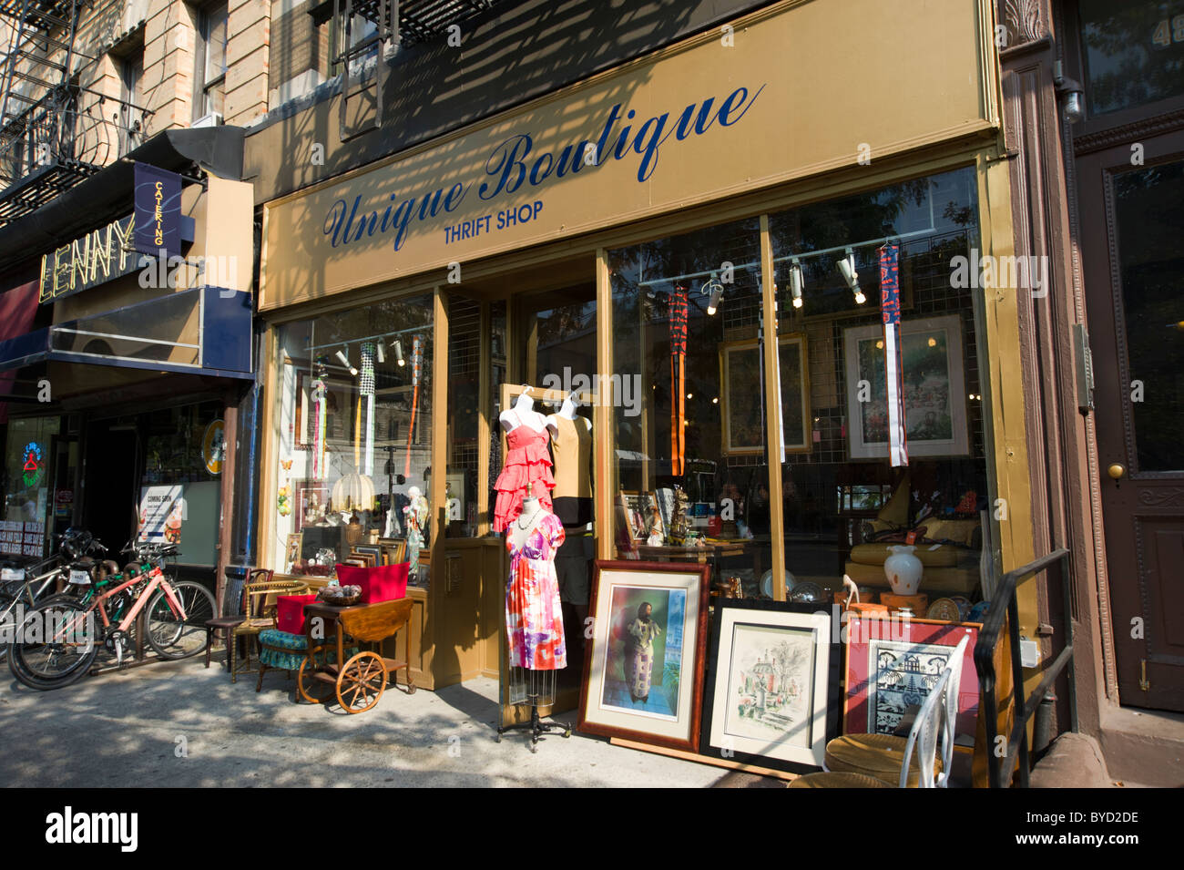 Thrift store on the Upper West Side, New York City, USA - Stock Image