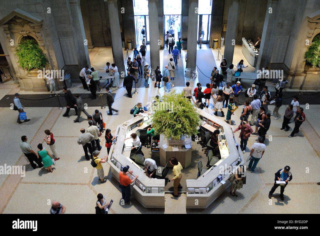 The Great Hall at the Metropolitan Museum of Art in New York City. May 4, 2010. Stock Photo