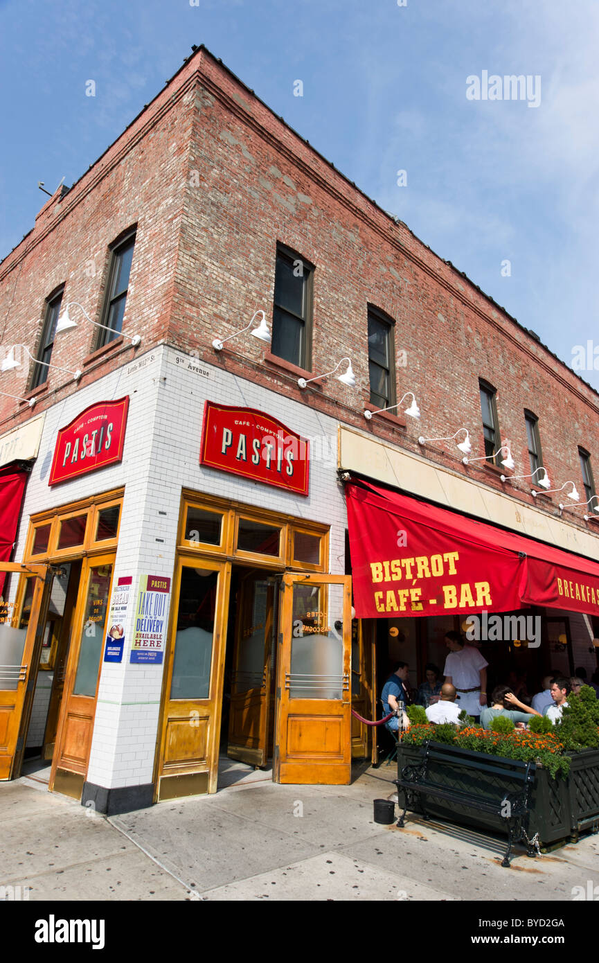 Pastis bistro on 9th Avenue in the Meatpacking District, New York City, USA - Stock Image