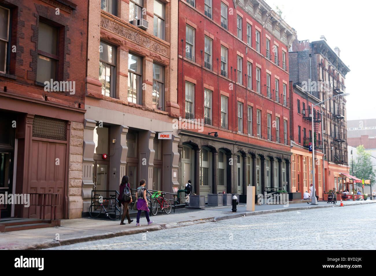 Harrison Street in Tribeca, New York City, USA Stock Photo