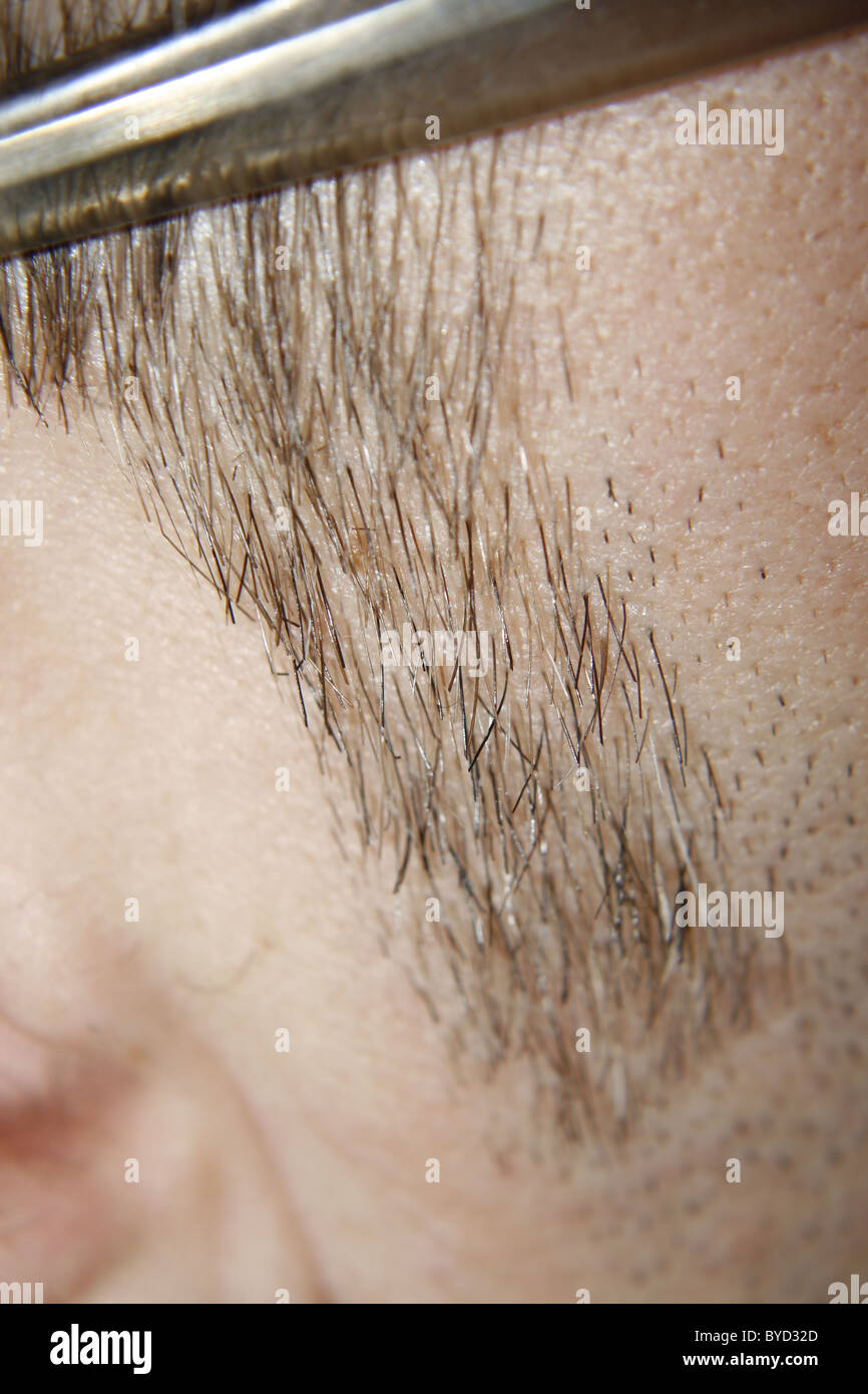 male sideburn Stock Photo