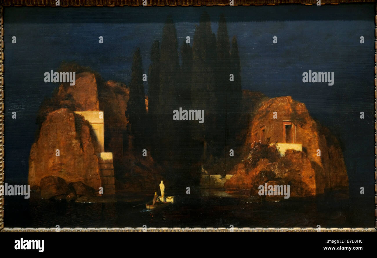 Island of the Dead, 1880, by Arnold Böcklin, - Stock Image