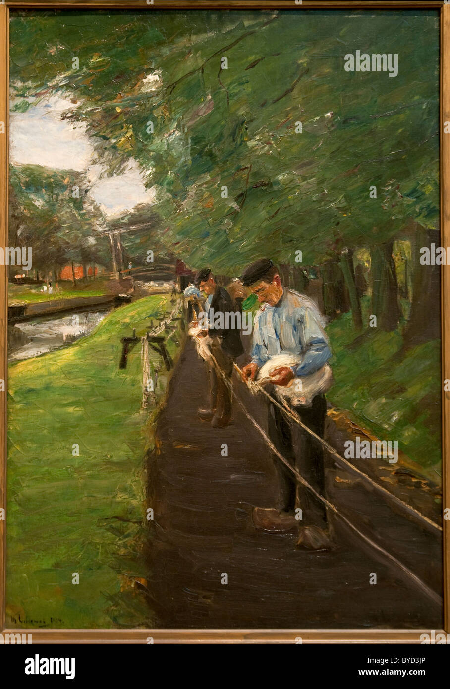 The Ropewalk in Edam, 1904, by Max Liebermann - Stock Image