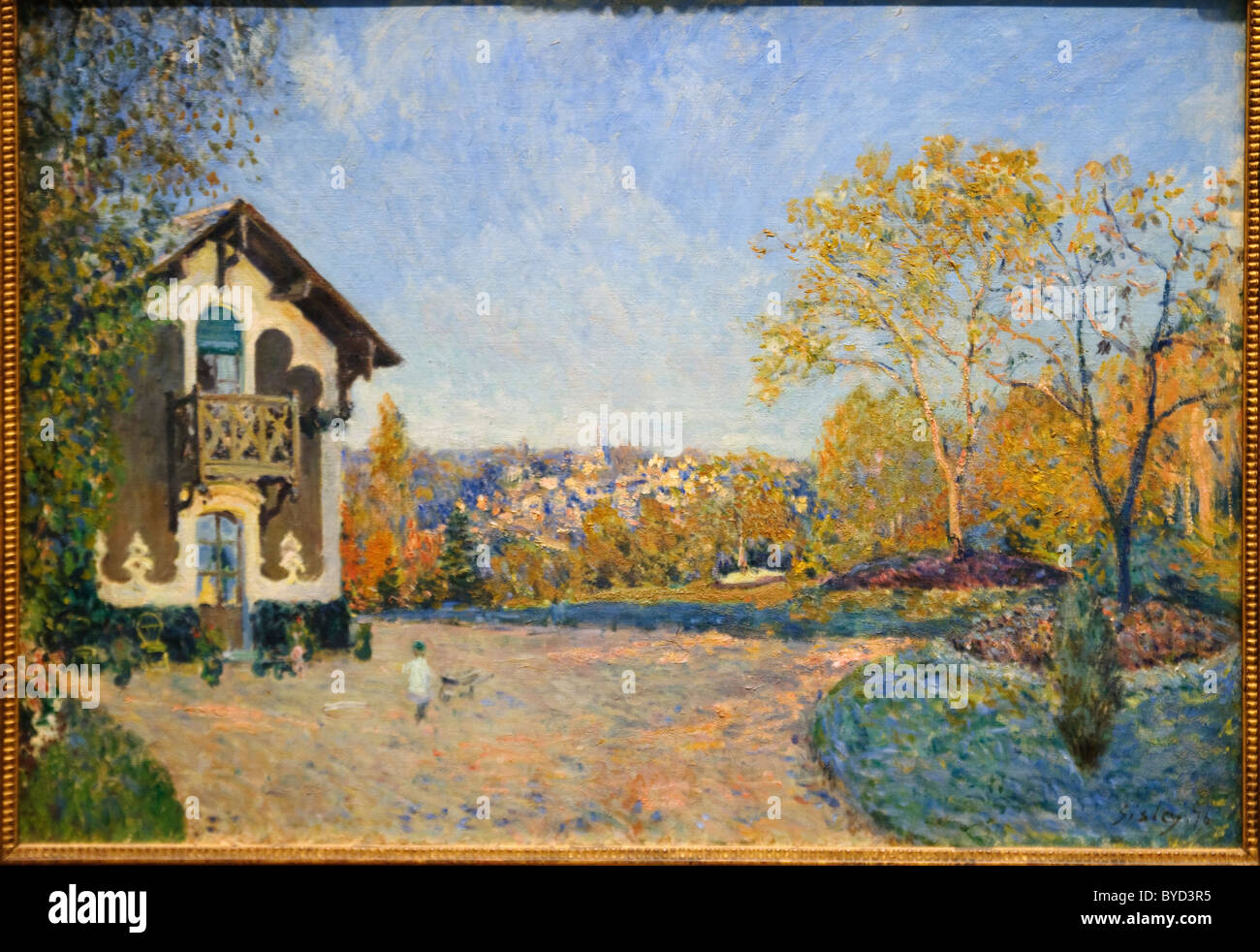 View of Marly-le-Roi from Coeur-Volant, 1876, by Alfred Sisley - Stock Image