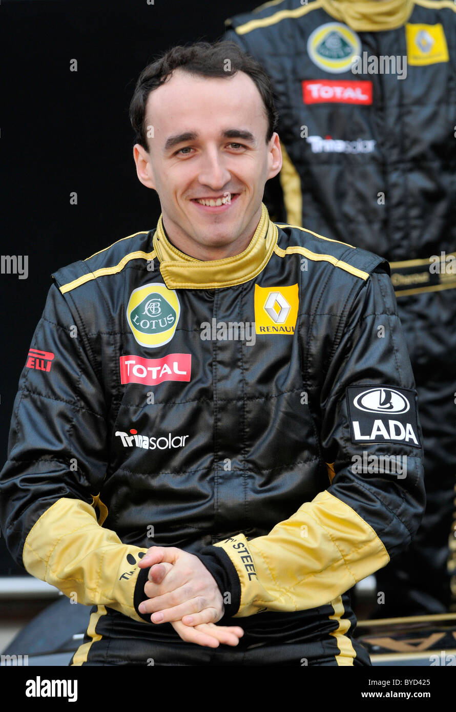 Portrait of Robert Kubica (POL) during presentation of the Renault R31 - Stock Image