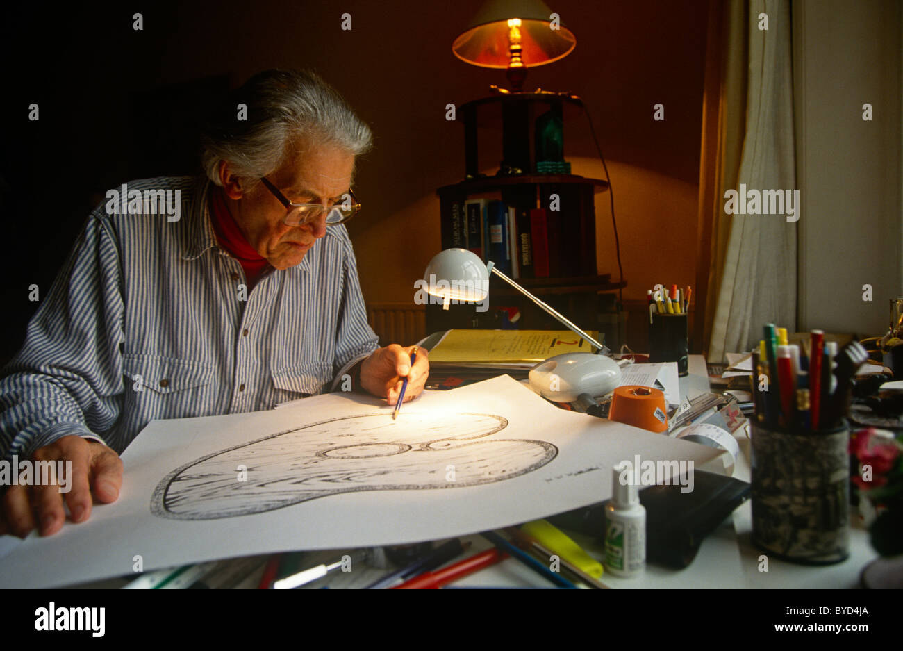 The Renowned Maze Designer Randoll Coate Working In His