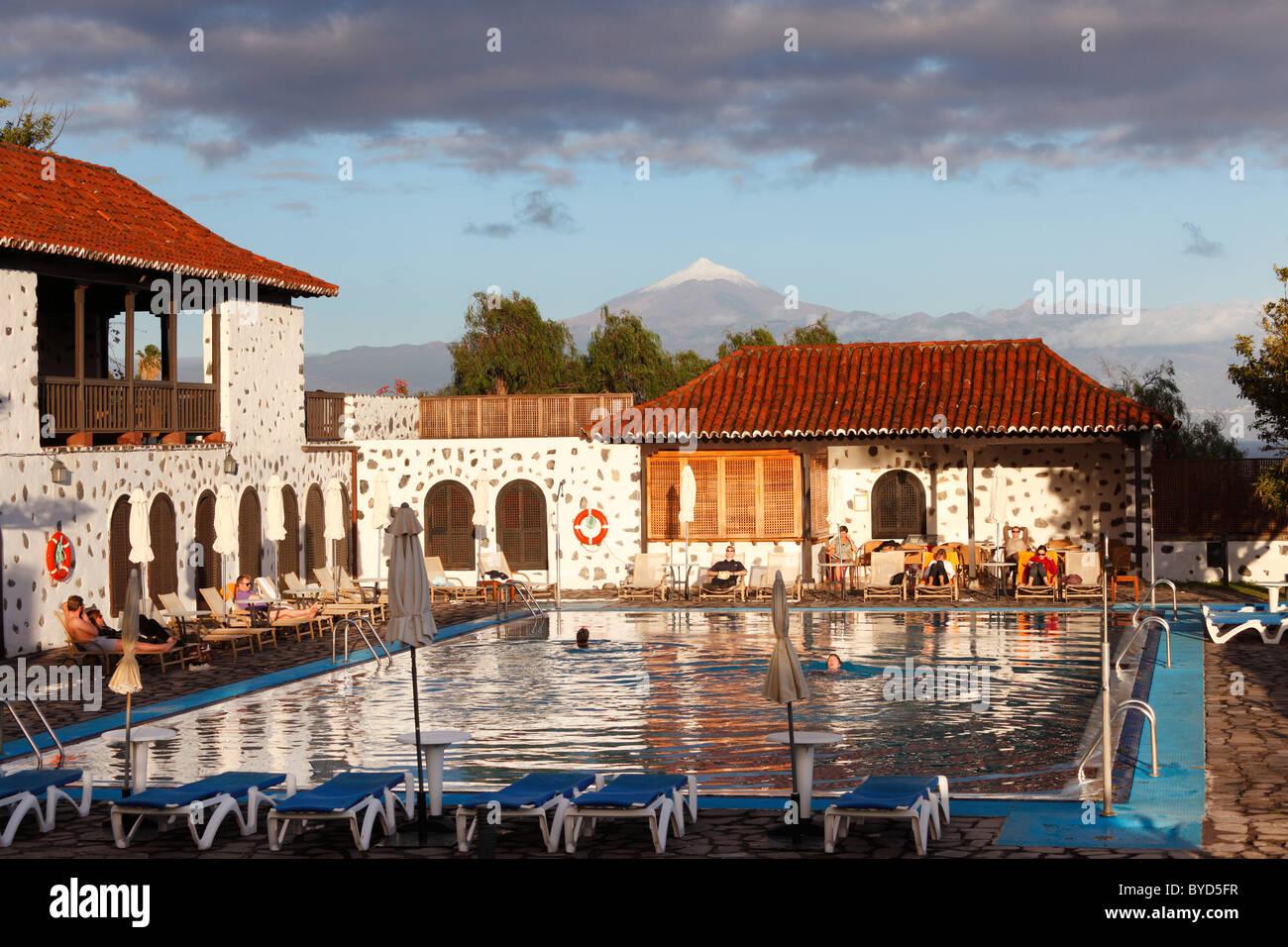 Swimming pool, Hotel Parador de Turismo Conde de La Gomera, San Sebatián de La Gomera, Canary Islands, Spain, - Stock Image