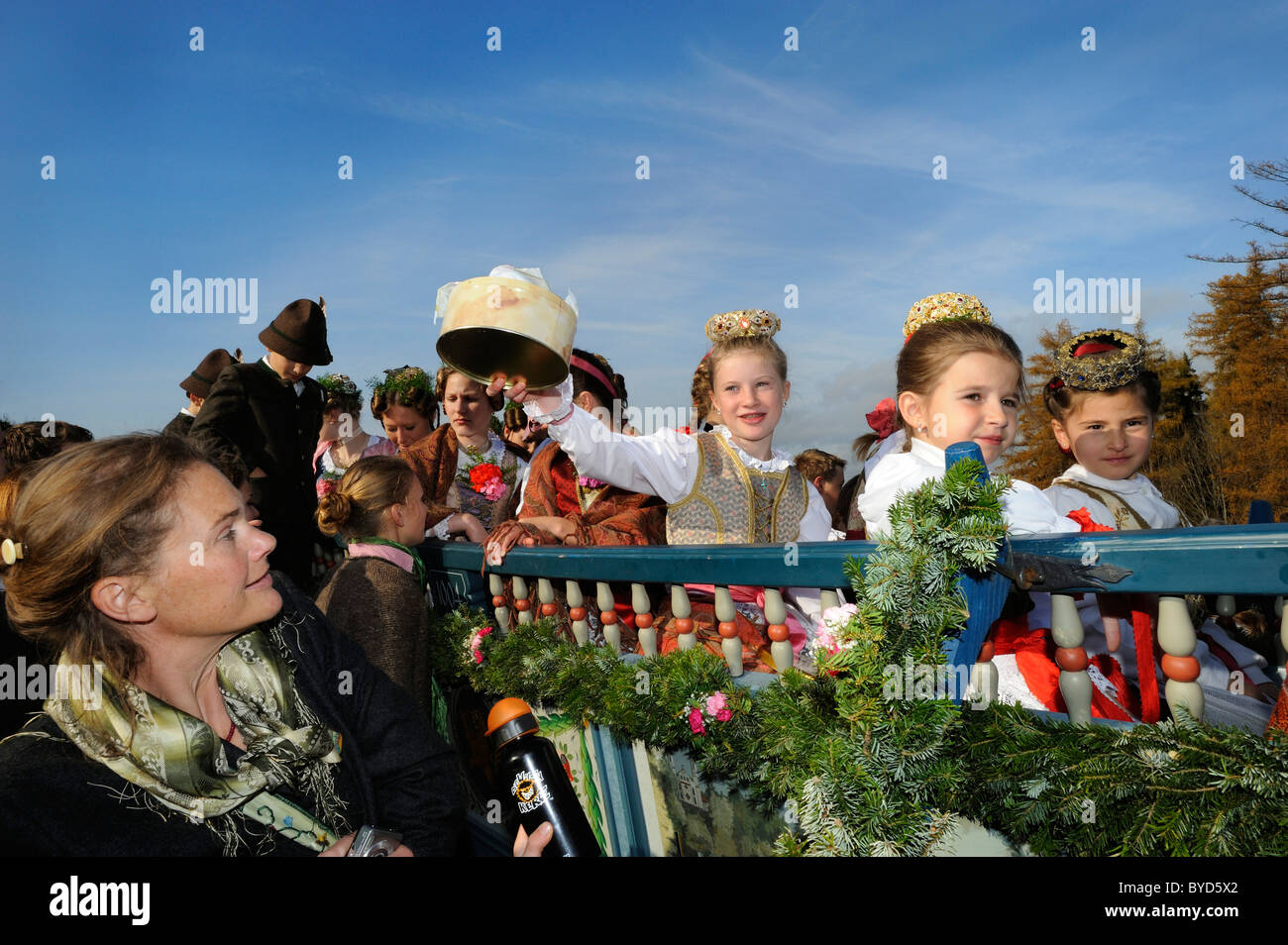 Leonhardifahrt, a procession with horses for the feast day of Saint Leonard of Noblac, Bad Toelz, Upper Bavaria, - Stock Image