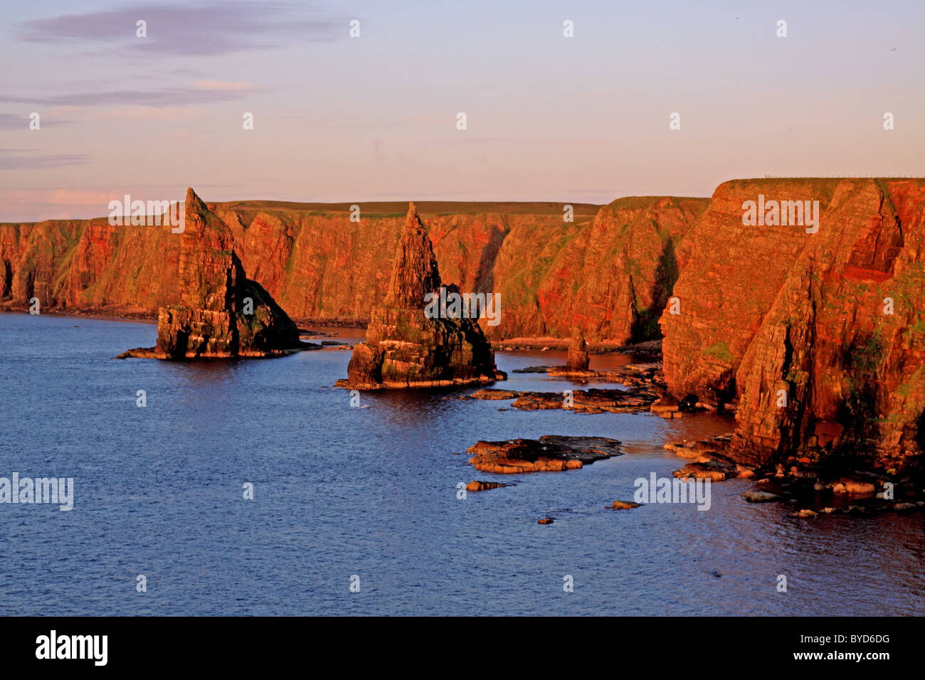 UK Scotland Highland Caithness The Stacks of Duncansby - Stock Image