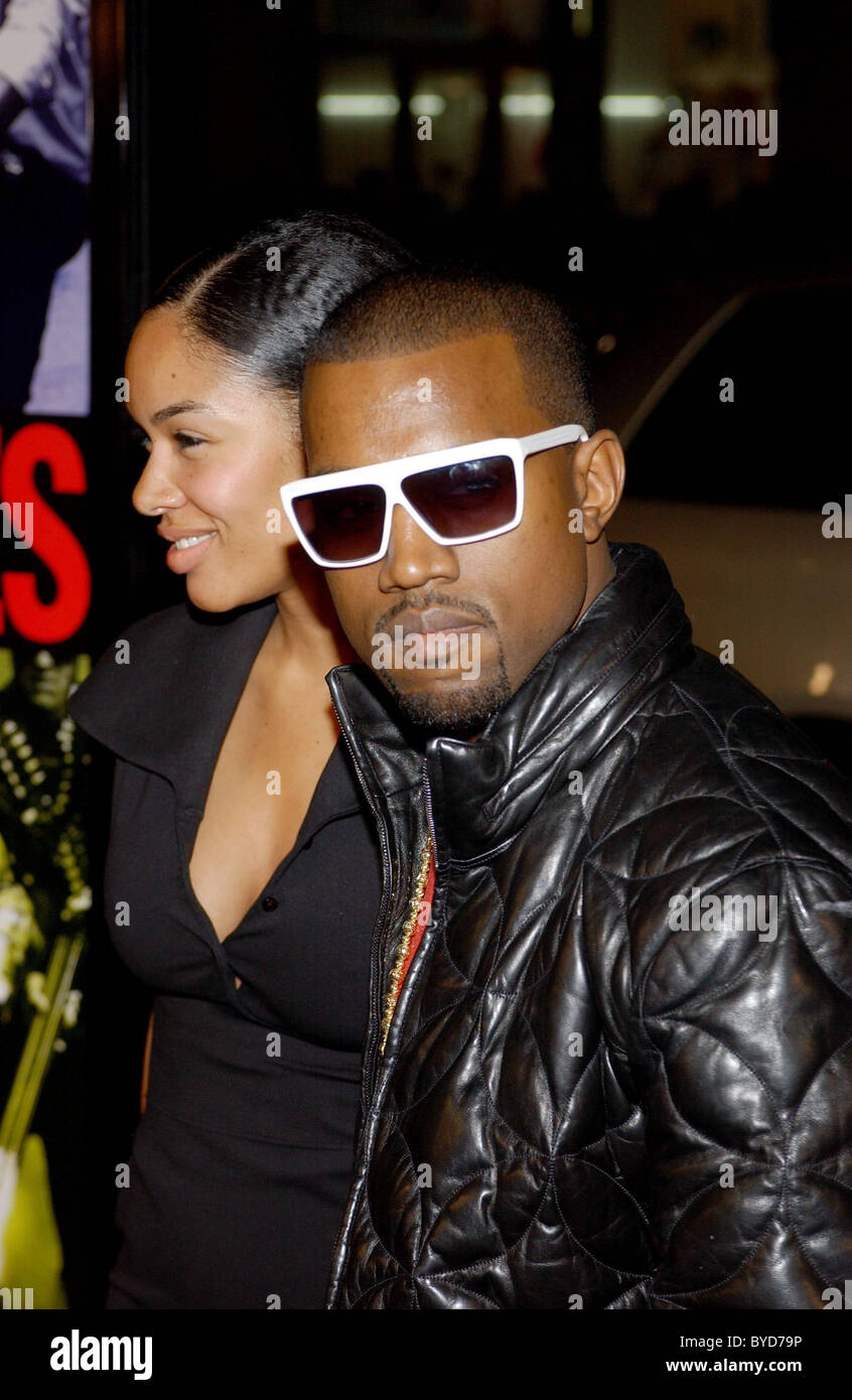 Alexis Phifer and Kanye West Los Angeles Premiere of 'Smokin' Aces' held at the Grauman's Chinese - Stock Image