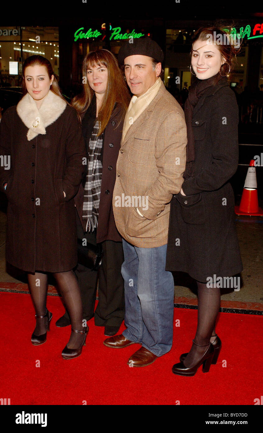 Andy Garcia and family Los Angeles Premiere of 'Smokin' Aces' held at the Grauman's Chinese Theatre - Stock Image