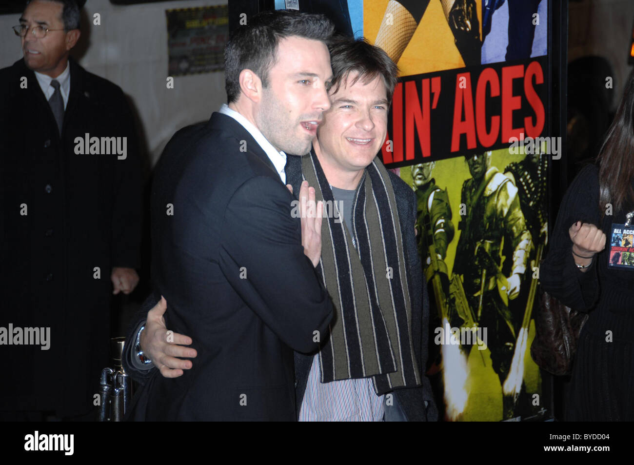 Ben Affleck and Jason Bateman World Premiere of 'Smokin' Aces' held at the Grauman's Chinese Theatre - Stock Image