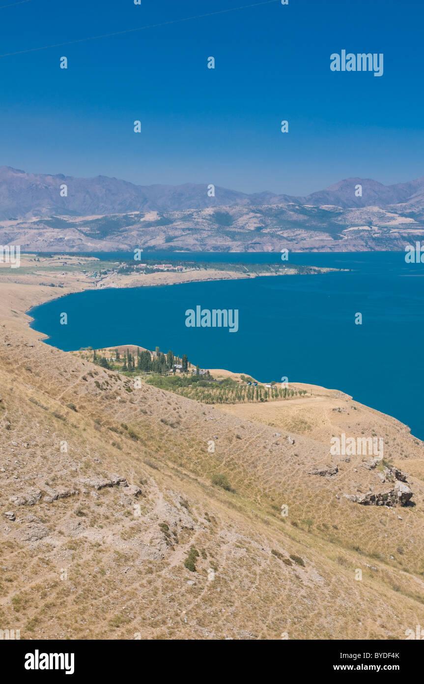 Chorvoq Reservoir at Ugam Chatkal National Park, Chimkar, Uzbekistan, Central Asia Stock Photo