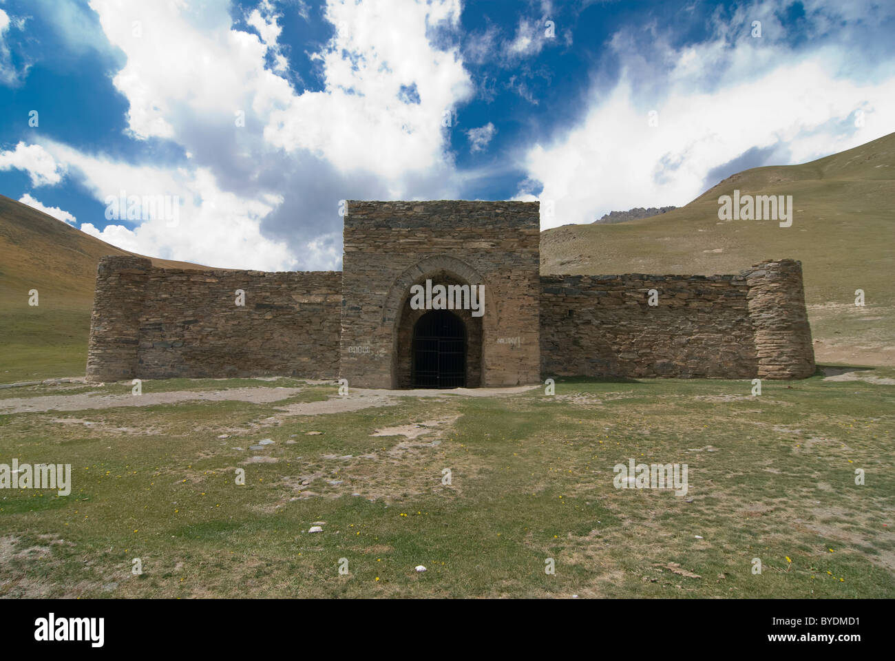 Caravanserai, stone house, Tash Rabat, Kyrgyzstan, Central Asia Stock Photo