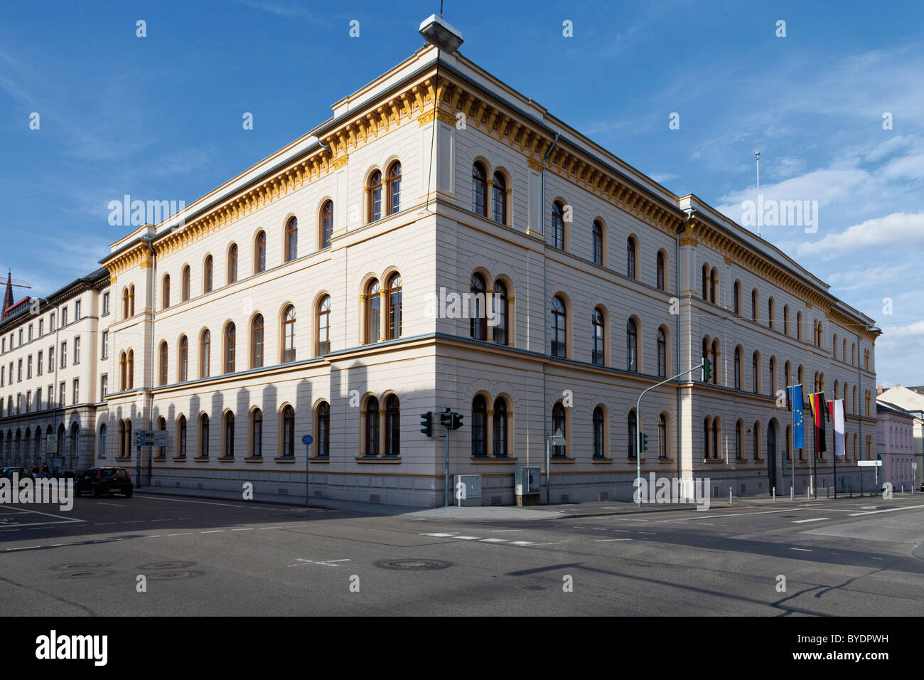 The Hessian Ministry of Justice, for Integration and Europe, Wiesbaden, Hesse, Germany, Europe - Stock Image