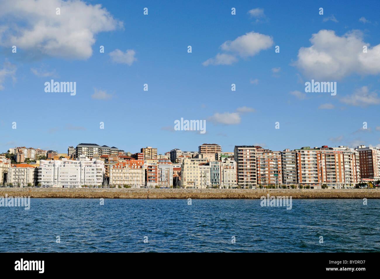 Coastal development, waterfront, Santander, Cantabria, Spain, Europe - Stock Image
