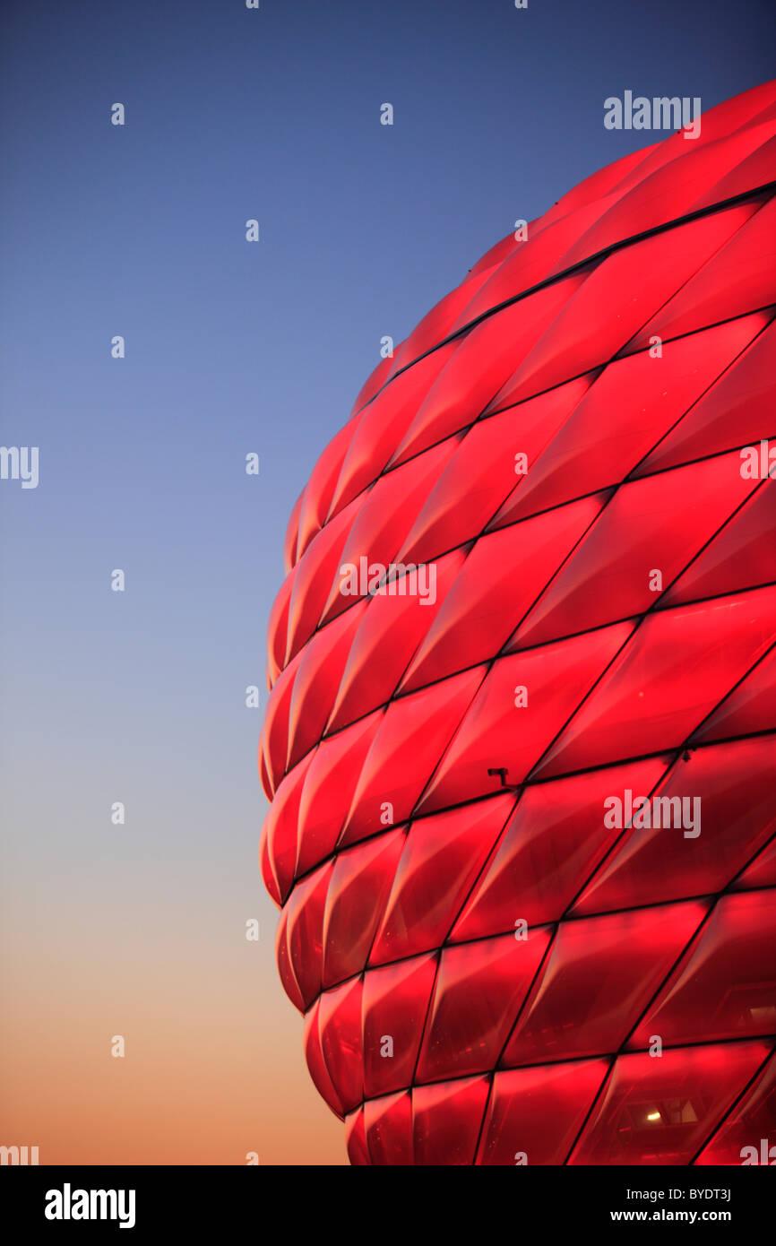 Allianz Arena football stadium, Munich, Bavaria, Germany, Europe Stock Photo