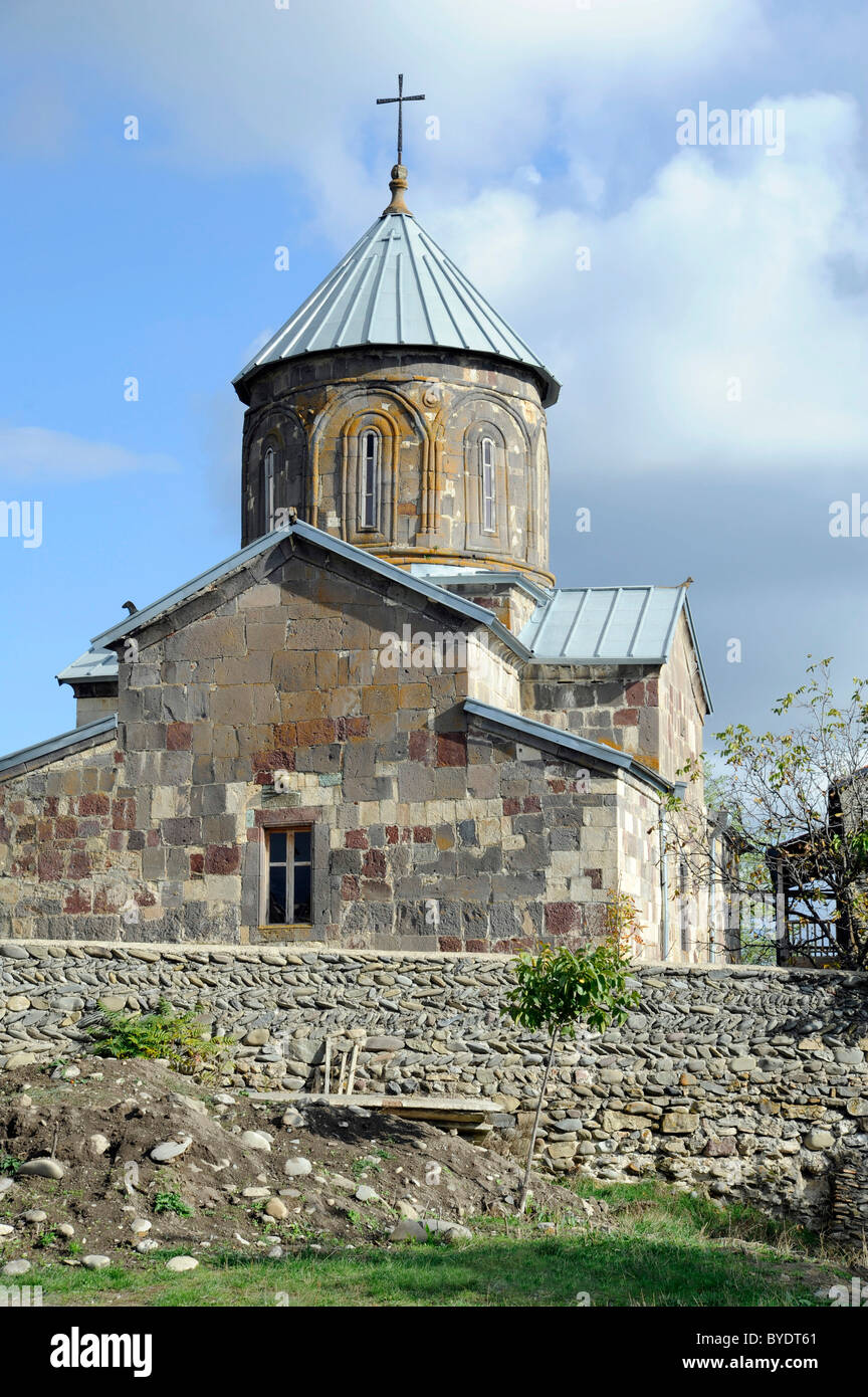 Abbey church, 6th Century converted in 14th Century, Nikosi, Niqozi, border town between South Ossetia in the Caucasus - Stock Image