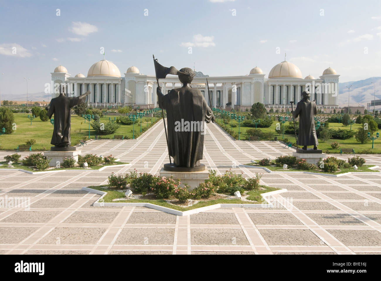 Monument to the Independence of Turkmenistan, Ashgabat, Turkmenistan, Central Asia - Stock Image