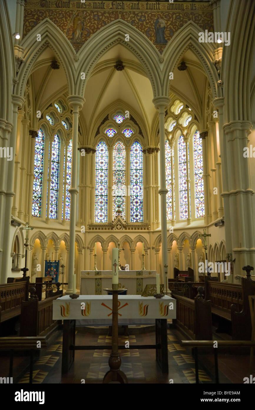 St Mary Church interior, Andover, Hampshire, England, United Kingdom, Europe - Stock Image