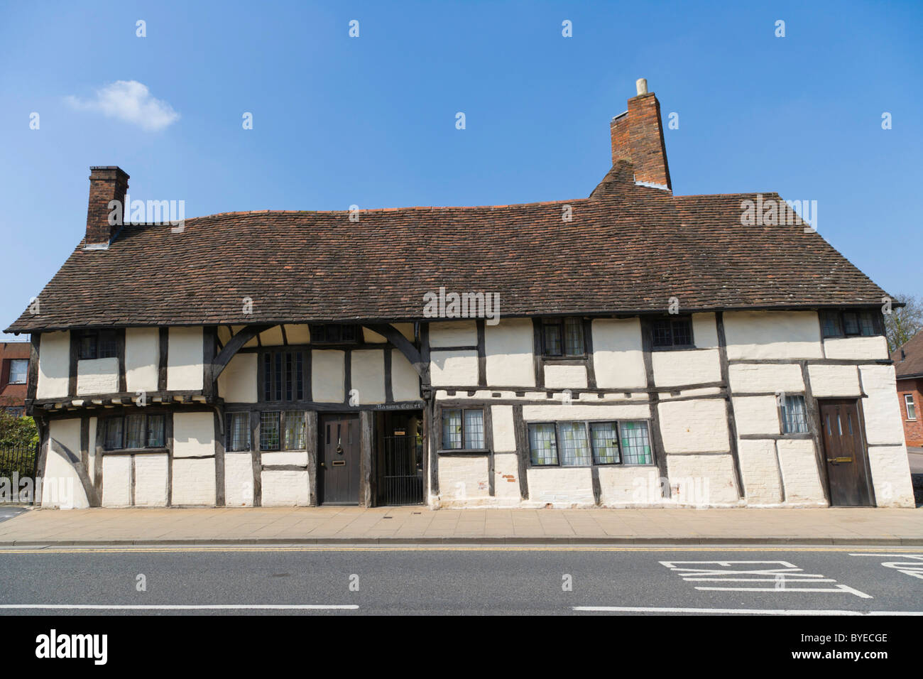 Masons Court, late medieval Wealden hall house, Rother Street, Stratford-upon-Avon, Warwickshire, England, United - Stock Image