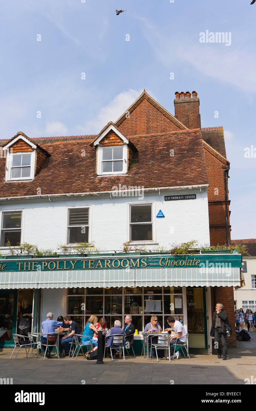 The Polly's Tearooms, The Maltings, Salisbury, Wiltshire, England, United Kingdom, Europe Stock Photo