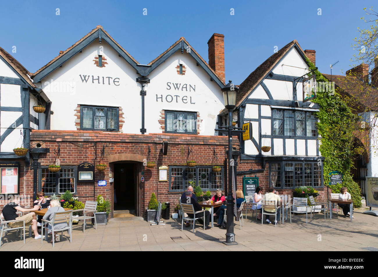 The White Swan Hotel, Rother Street, Stratford-upon-Avon, Warwickshire, England, United Kingdom, Europe - Stock Image