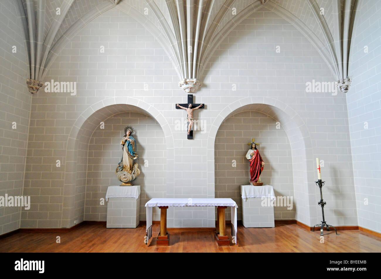 Monasterio de Santa Maria la Real de Irache, Benedictine monastery and church, Way of St. James, Estella, Navarra, - Stock Image