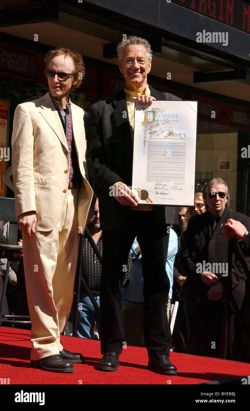 Robbie Krieger left and Ray Manzarek Rock band The Doors celebrate their 40th Anniversary with the Star On The Hollywood  sc 1 st  Alamy & Robbie Krieger left and Ray Manzarek Rock band The Doors celebrate ...
