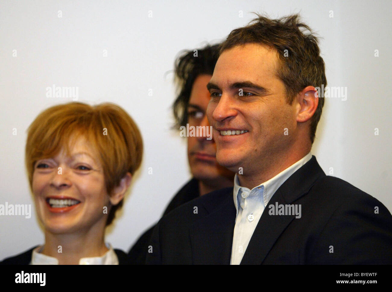 Frances Fisher, Jimmy DeMers and Joaquin Phoenix News Conference To Reintroduce The Department Of Peace And Nonviolence - Stock Image